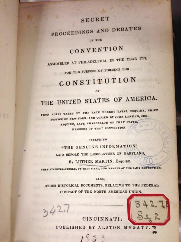 Secret Proceedings and Debates