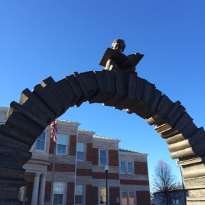 Newark County Library Main Archway