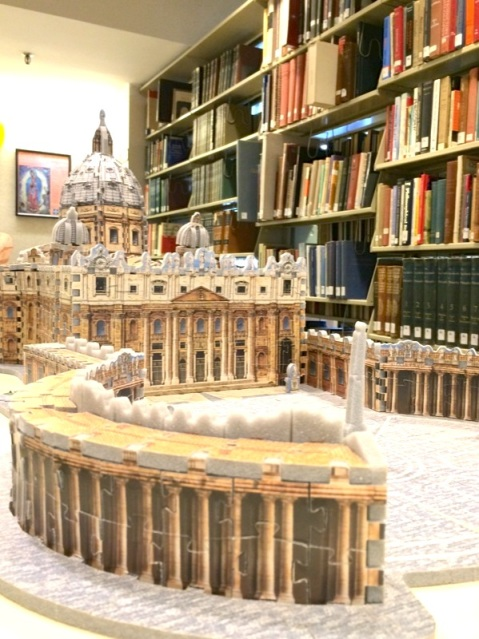 Vatican 3-D puzzle on display on the second floor