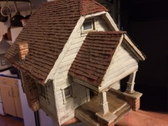 Jon Blake's incredibly detailed birdhouse/model home.