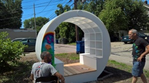 4th Street Farms Little Library with Aaron Thomas