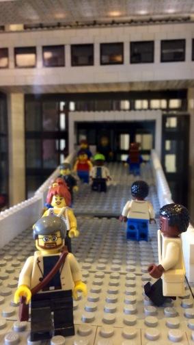 Lego replica of the Mudd Center