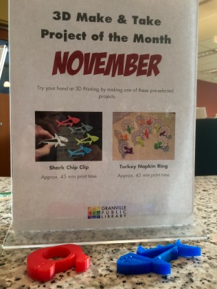 "The library offers monthly ""make and take"" projects"